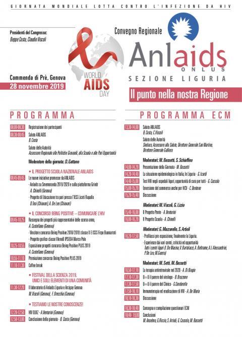 Anlaids Liguria: Convegno a genova il 28 novembre