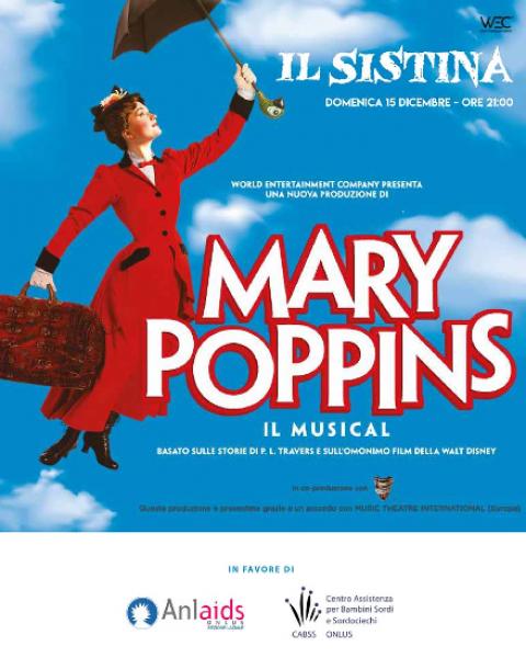 Mary Poppins al Sistina per Anlaids Lazio