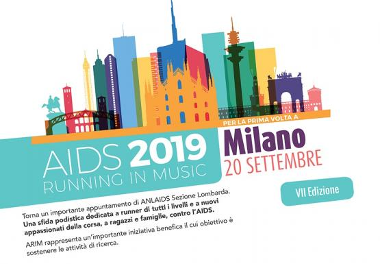 A MILANO IL 20 SETTEMBRE 2019 TORNA AIDS RUNNING IN MUSIC