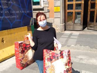 Consegna mascherine alla Casa Circondariale S. Vittore di Milano