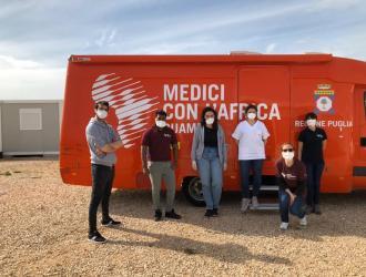 Le nostre mascherine a Medici per l'Africa Cuamm - Bari