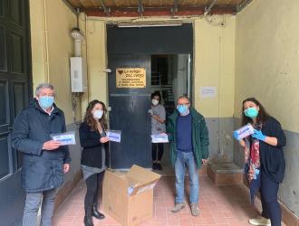 Le mascherine Anlaids a La Ronda del Cuore, Napoli