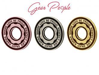 monili Gear People in oro rosa, argento e oro giallo
