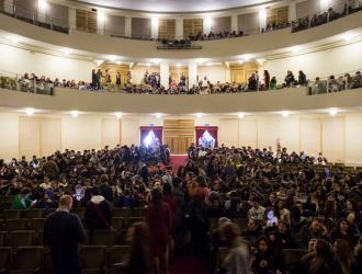 Roma Teatro Italia - manifestazione con gli studenti del Progetto Scuole
